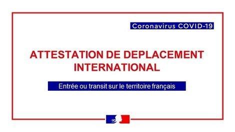 Covid 19 Attestation De Deplacement International Frankrijk In Nederland La France Aux Pays Bas