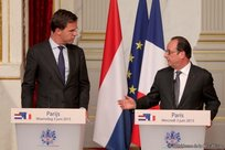 Point de presse commun Mark Rutte et François Hollande