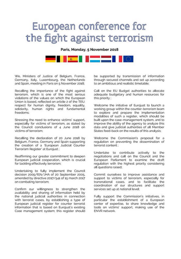 joint statement - EU Conference for the fight against terrorism - JPEG