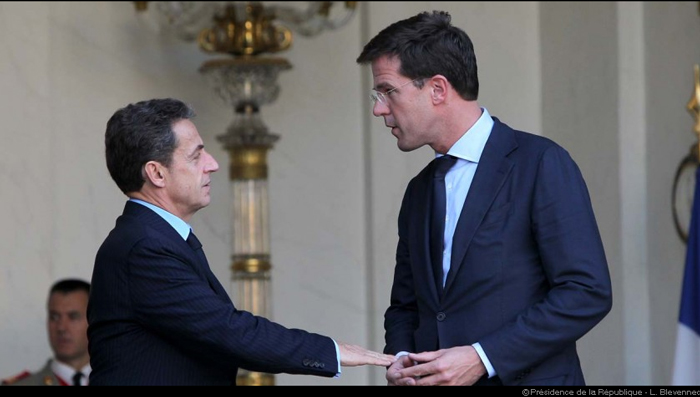 MM. Nicolas Sarkozy et Mark Rutte - JPEG